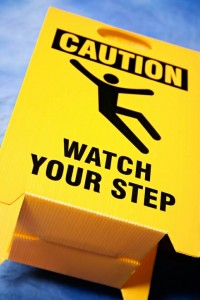 Caution: Watch Your Step.